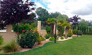 Obras de jardinería